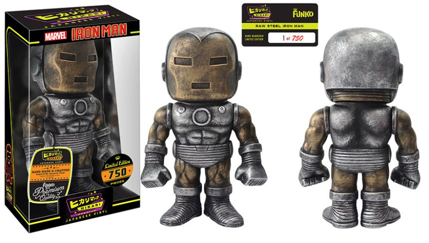 Raw Steel Iron Man Premium Sofubi Figure