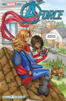 A-Force #2 with cover art by Siya Oum