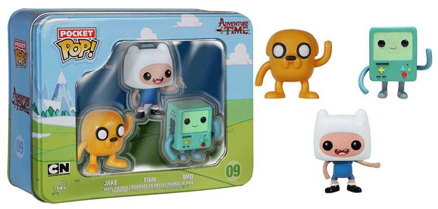 Adventure Time Pocket Pop! Tin 3-Pack B-Mo, Jake, Finn