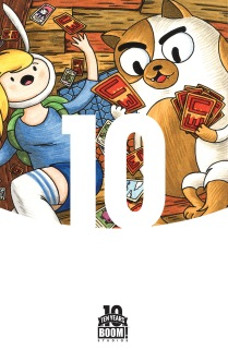 Adventure Time with Fionna & Cake Card Wars #1 10 Years Cover by Jeffrey Brown