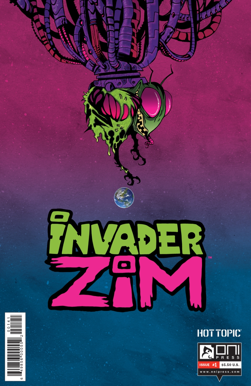 INVADERZIM #1 COVER CROSLAND HOT TOPIC VARIANT 1 NEW LOGO