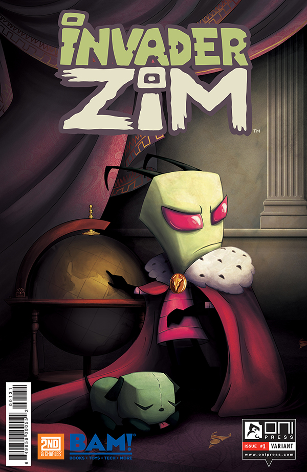 INVADERZIM #1 COVER JULIETA COLAS BOOKS A MILLION VARIANT 4x6 WEB