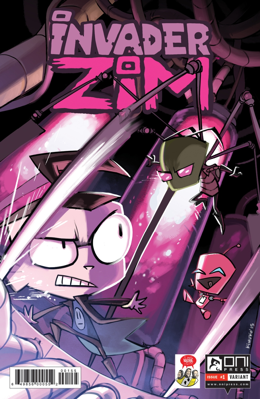 INVADERZIM #1 COVER MARIEL CARTWRIGHT I WANT MORE COMICS VARIANT NEW LOGO