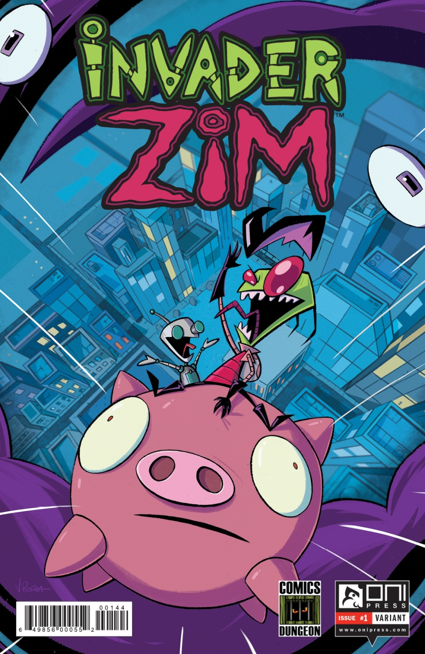 Invader Zim 1 Comics Dungeon Variant Cover By Artist Vincent Perea