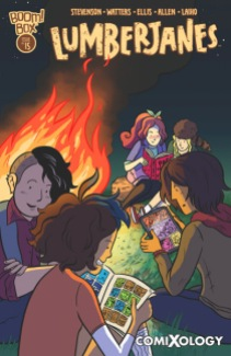 Lumberjanes #15 with cover by Hope Larson