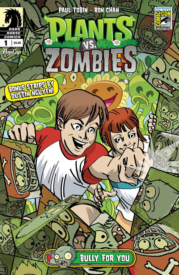 Plants vs. Zombies Bully for You #1 San Diego Comic-Con International Exclusive Variant Cover by Charlie Adlard