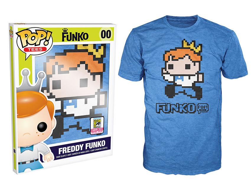 Pop! Tees Freddy Funko 8-Bit Pixelated