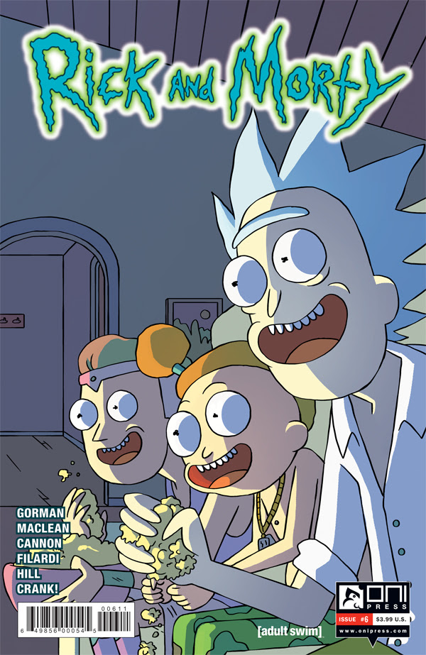 Rick and Morty #6 Standard Retail Cover by CJ Cannon