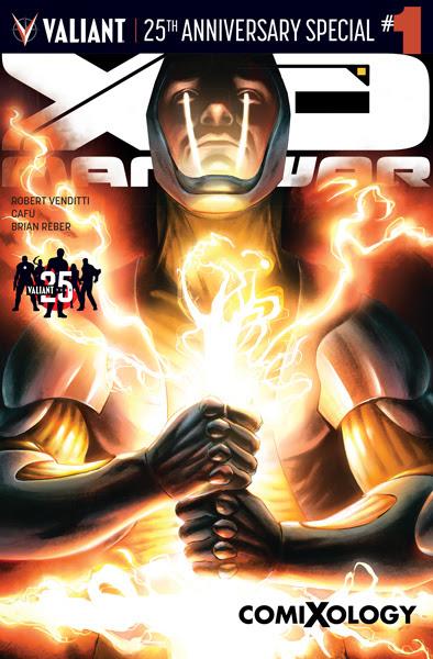 X-O Manowar Valiant 25th Anniversary Special #1 with cover art by Al Barrionuevo