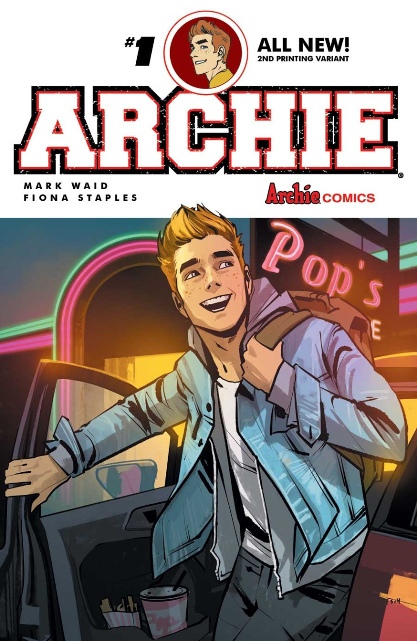 ARCHIE #1 2nd Printing Cover by Fiona Staples