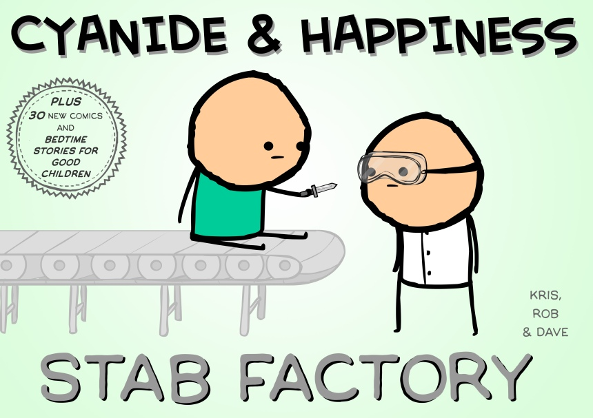 Cyanide & Happiness Stab Factory Cover by Kris Wilson, Rob DenBleyker