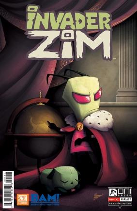 INVADERZIM #1 COVER JULIETA COLAS BOOKS A MILLION VARIANT 4x6 WEB