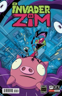 INVADERZIM #1 COVER VINCENT PEREA COMICS DUNGEON 4x6 WEB