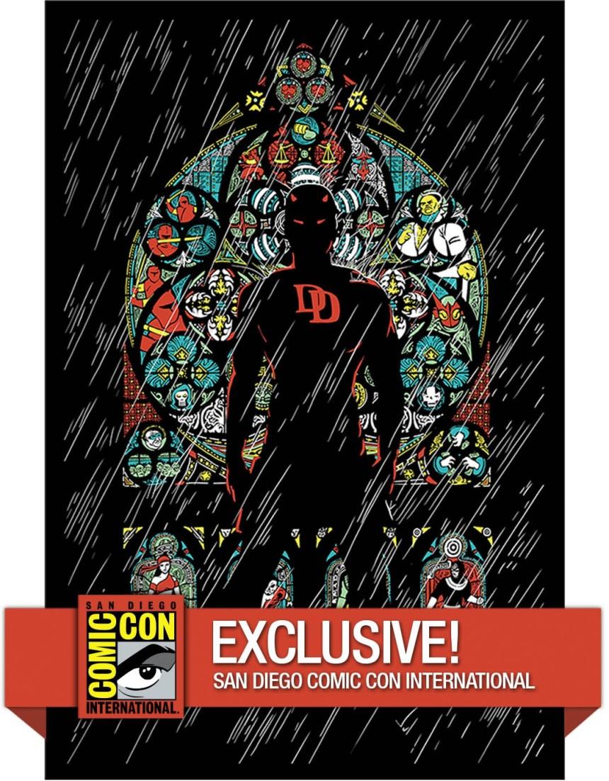 Upper-Deck-Gallery-Comic-Con-2015-Marvel-Original-Art-Poster-Daredevil-Color-Variant-Exclusive
