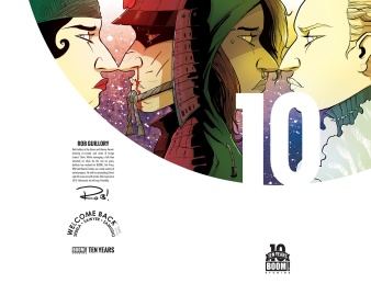Welcome Back #1 10 Years Cover by Rob Guillory (Full wraparound image shown)