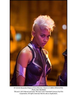 Alexandra Shipp as Ororo Munroe / Storm in X-MEN: APOCALYPSE.