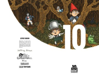 Over the Garden Wall #1 10 Years Cover by Jeffrey Brown (Full wraparound image shown)