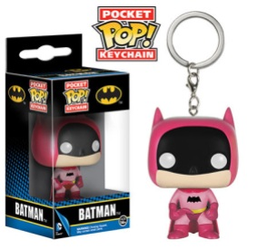 Pocket Pop! Keychains Rainbow Batman Pink