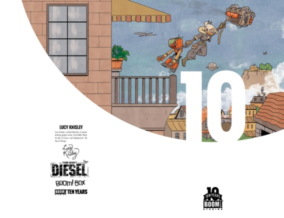 Tyson Hesse's Diesel 10 Years Cover by Lucy Knisley (full wraparound image shown)