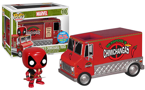 Pop! Rides Deadpool's Red Chimichanga Truck