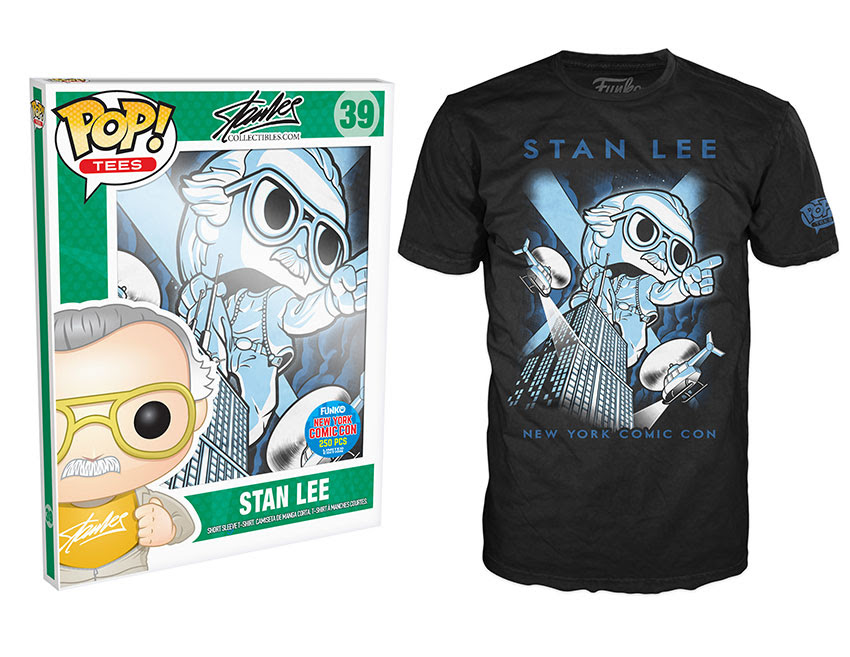 Pop! Tees Stan Lee - Stan on Empire State Building