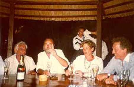 St. Vincent (Caribbean Islands) L to R, Leonard Bernstein, Jerry, Jan, Arthur Galvin