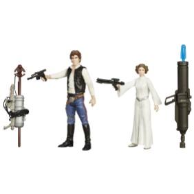 STAR WARS TFA 3.75IN Figure 2-Pack_Han Solo Princess Leia