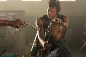 "Daryl Dixon (Norman Reedus) and Oscar (Vincent Ward) - The Walking Dead_Season 3, Episode 2_""Sick"" - Photo Credit: Gene Page/AMC"