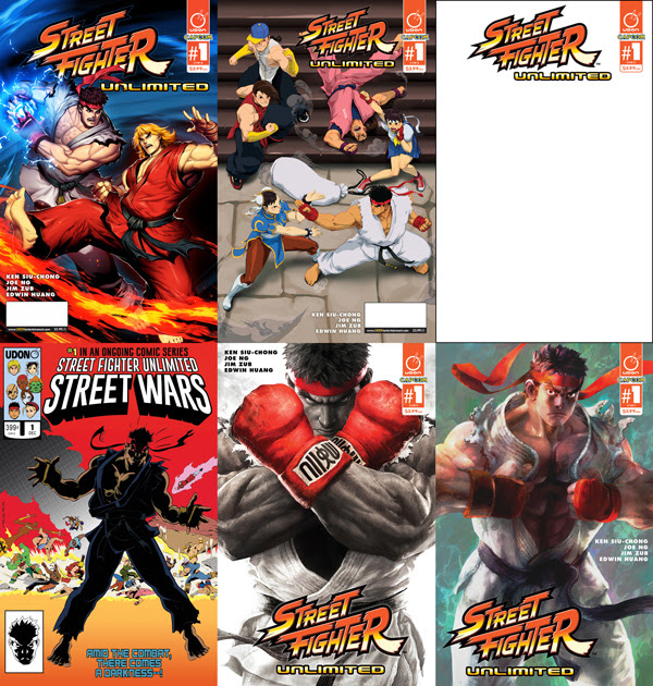 STREET FIGHTER UNLIMITED #1 COVERS AND VARIANTS