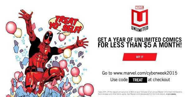 marvel unlimited cyber week 2015