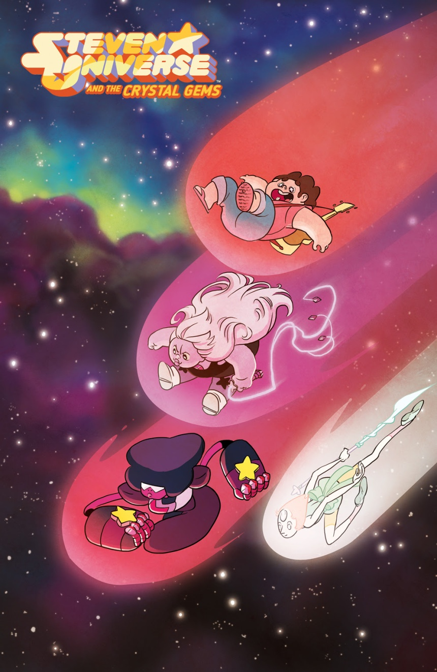 Steven Universe and the Crystal Gems #1 (of 4) Main cover by Kat Leyh