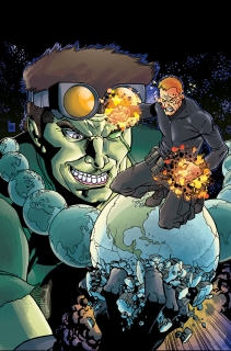 ACTIONVERSE #1: THE F1RST HERO Lee Moder (art) and Fred C. Stressing (Color)