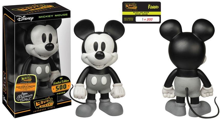 Black and White Mickey Mouse Hikari Sofubi Figure