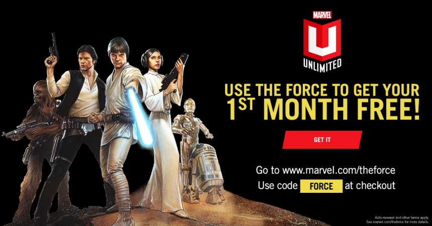 Awaken A Galaxy Of Over 17,000 Digital Comics With Star Wars And Marvel Unlimited