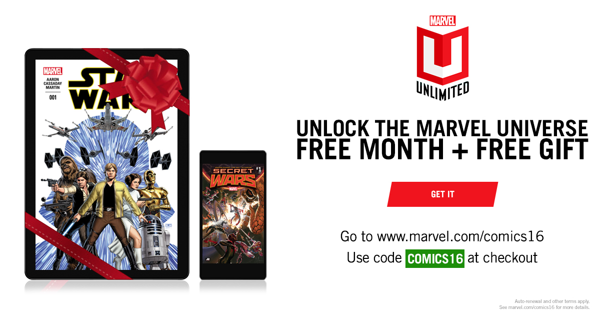 get your first month of marvel unlimited for free graphic policy