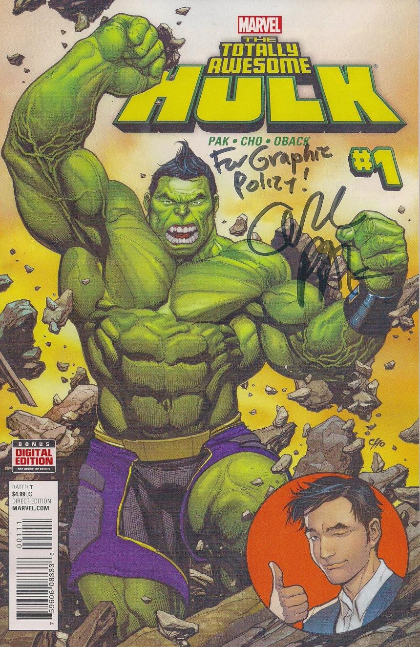 Pak Midtown Comics Hulk Signed