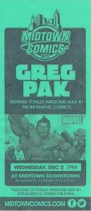 Pak Midtown Comics Hulk