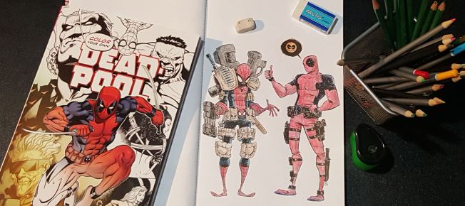 adult coloring books art therapy or bs graphic policy - Deadpool Coloring Book