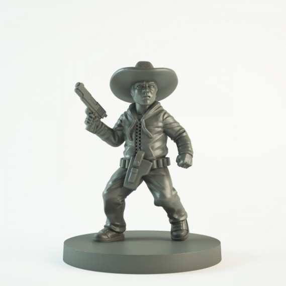 The Walking Dead All Out War Miniatures Game Carl Sculpt