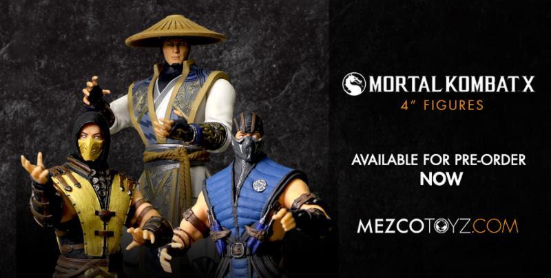 Mezco Presents Mortal Kombat X 3.75 Inch Figures
