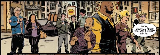 Power Man Iron Fist Street Selfie