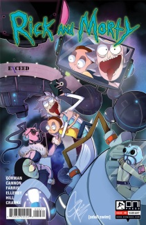 Rick and Morty #9 Exceed Exclusives variant illustrated by Giahna Pantano