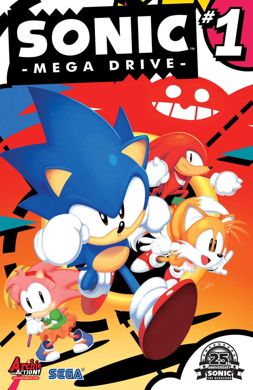 SONIC MEGA DRIVE #1 cover by Tyson Hesse