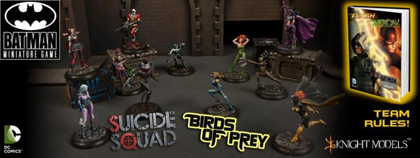 Batman Miniature Game The Flash vs Arrow Suicide Squad Birds of Prey