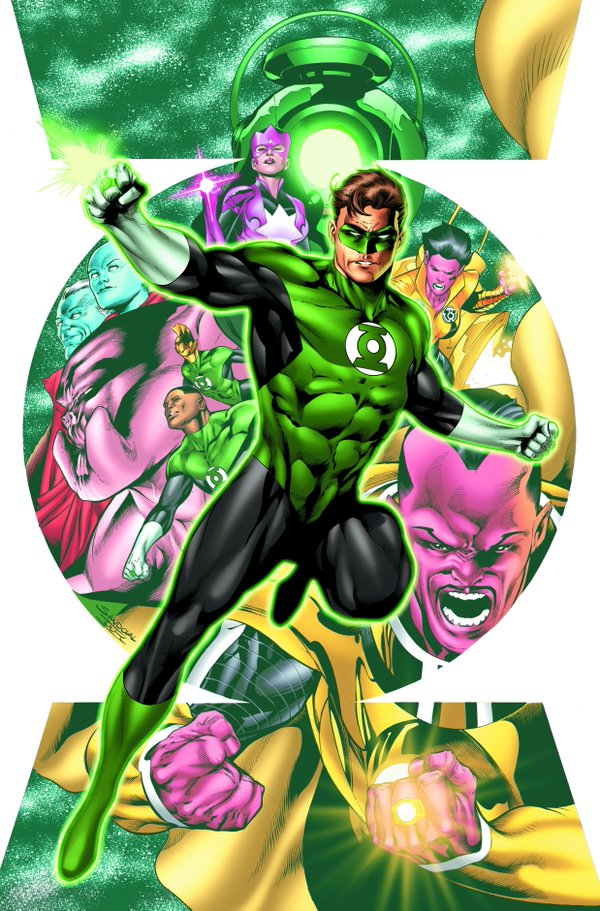 Hal Jordan and the Green Lantern Corps.