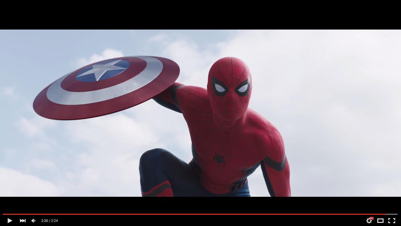 Skype hidden emoticons captain america - Spider Man_civil_war
