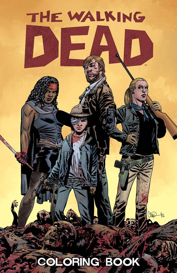THE WALKING DEAD COLORING BOOK 1
