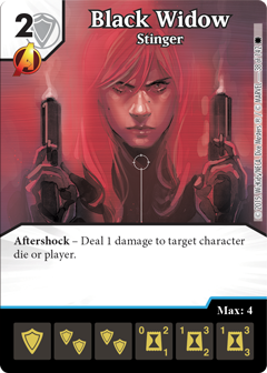 Marvel Dice Masters Marvel Knights OP Black Widow