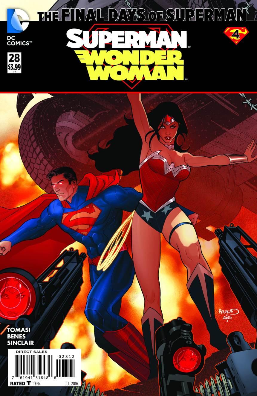 Superman_Wonder Woman 28 Final Days of Superman by Paul Renaud