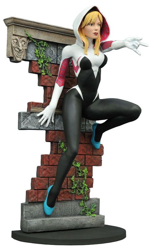 FEB168428 STL009975 MARVEL GALLERY SPIDER-GWEN UNMASK PVC FIG